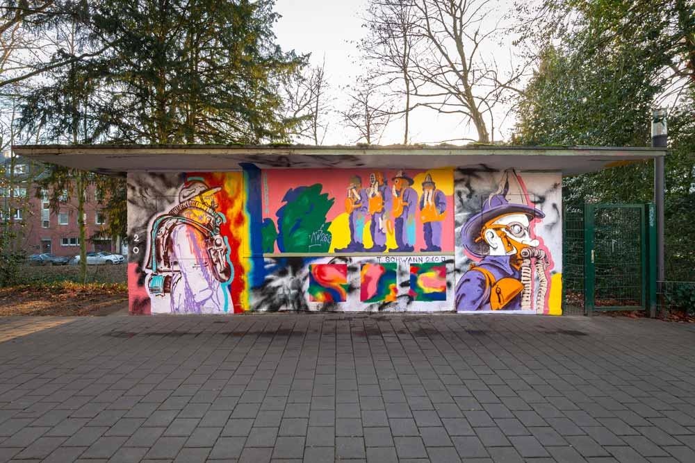 """""""AEROPHOR"""" - 2020 entstandene Arbeit von Kj263 am Kiosk an der Alten Post"""
